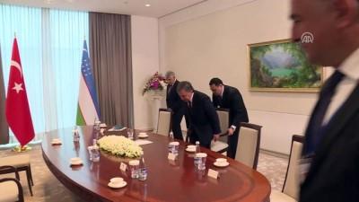 Dışişleri Bakanı Çavuşoğlu, Özbekistan Cumhurbaşkanı Mirziyoyev ile görüştü - TAŞKENT