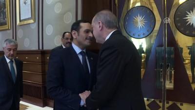 Cumhurbaşkanı Erdoğan, Katar Dışişleri Bakanı El Sani'yi kabul etti - ANKARA