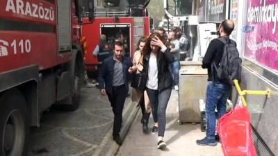 Amasya'da iş merkezinde korkutan yangın