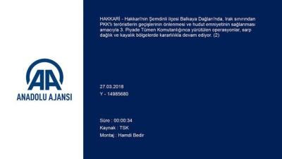Balkaya Dağları'nda terör örgütüne yönelik operasyonlar kararlılıkla devam ediyor (2) - HAKKARİ