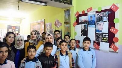 Afrin kahramanının anısı okulda yaşatılıyor