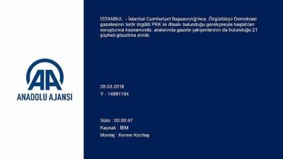 Özgürlükçü Demokrasi gazetesine yönelik soruşturma - İSTANBUL