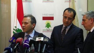 GKRY Dışişleri Bakanı Hristodoulidis - Lübnan Dışişleri Bakanı Basil (2) - BEYRUT