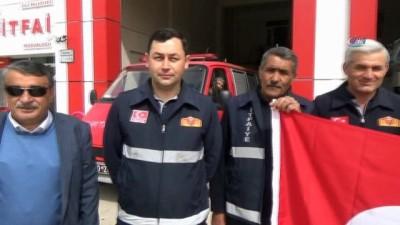 Asker babası itfaiyecilerden Mehmetçiğe destek