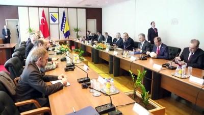 Başbakan Yıldırım-Bakanlar Konseyi Başkanı Zvizdic görüşmesi - Heyetler arası - SARAYBOSNA