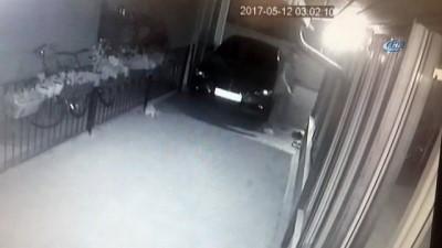 Elleri çoraplı hırsız kıskıvrak yakalandı