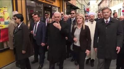 Başbakan Yıldırım'ın Başçarşı ziyareti - SARAYBOSNA
