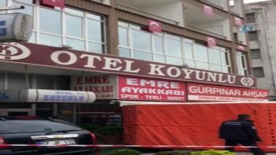 Suriyeli kız otelin altıncı katından böyle atladı