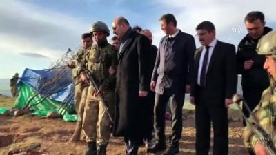 İçişleri Bakanı Soylu, 6 güvenlik korucusunun şehit olduğu Eruh'taki üst bölgesinde incelemelerde bulundu - SİİRT