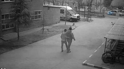 Memurların bıçaklı kavgası güvenlik kamerasında