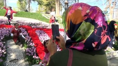 """Konya'da """"Lale Mevsimi"""" başladı"""