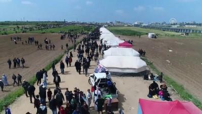 Filistinlilerin 'Büyük Dönüş Yürüyüşü' - GAZZE