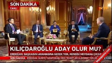 Erdoğan: Kılıçdaroğlu'nun başkasını aramasına gerek yok kendisi çıksın