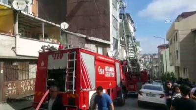 Kağıthane'de çatı yangını - İSTANBUL