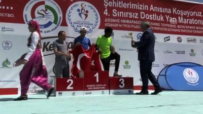 Sınırsız Dostluk Yarı Maratonu - Sporculara ödülleri verildi - EDİRNE