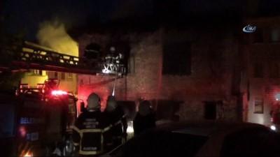 Kütahya'da korkutan yangın...Yangından kurtulan farenin telefon tellerindeki görüntüsü ilginç anlara sahne oldu