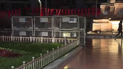 Taksim Meydanı'nda 1 Mayıs öncesi güvenlik önlemleri - İSTANBUL