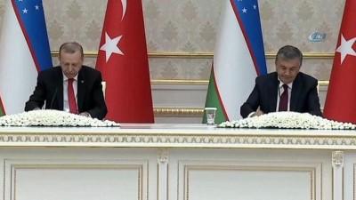 """-""""Uzun bir yolculuğa Türkiye-Özbekistan olarak bu anlaşmalarla çıkıyoruz"""""""