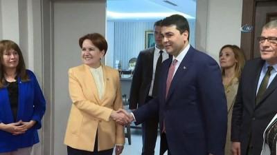 İYİ Parti Genel Başkanı Akşener ile Demokrat Parti Genel Başkanı Uysal ortak basın toplantısı düzenledi