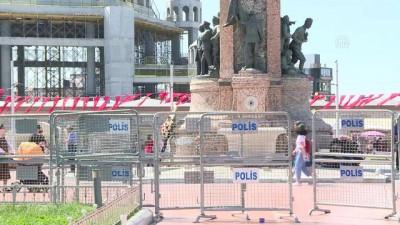 Taksim Meydanı'nda güvenlik önlemleri alınmaya başlandı - İSTANBUL