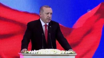 Cumhurbaşkanı Erdoğan: '(Ticaret hacmi) İki ülke arasında hedef 5 milyar dolara ulaşmaktır' - TAŞKENT
