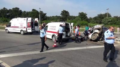 Trafik kazası: 1 ölü, 4 yaralı - ÇANAKKALE