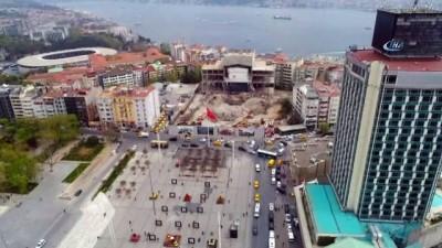 Atatürk Kültür Merkezinin yıkımında son duvar