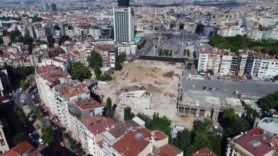 Atatürk Kültür Merkezi'nin son durumu havadan görüntülendi
