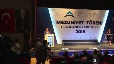 Dışişleri Bakanı Çavuşoğlu Bilim Üniversitesi'nin mezuniyet törenine katıldı - ANTALYA