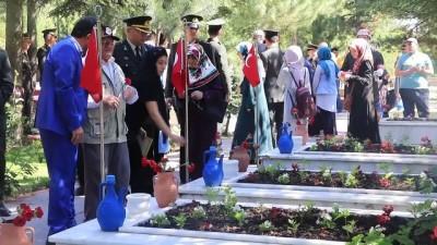 Şehit yakınlarından mezarlık ziyareti - ÇANKIRI