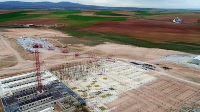 FETÖ için yapımı devam eden yüksek güvenlikli cezaevi havadan görüntülendi