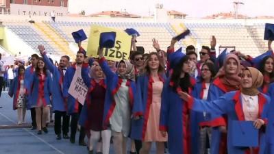 Kırıkkale Üniversitesinde mezuniyet töreni