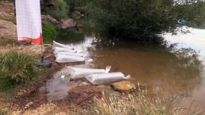 Uşak'ta göletlere 100 bin yavru balık bırakıldı
