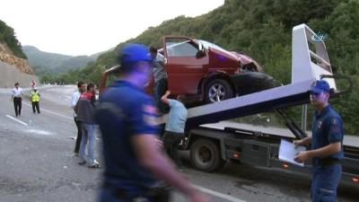 Zonguldak'ta trafik kazası: 1'i ağır 6 yaralı
