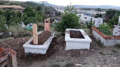 Oğlu defnedildikten 3 saat sonra hayatını kaybetti - Anne ile oğlunun mezarından detaylar - BOLU