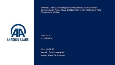 Erdoğan-Poroşenko görüşmesi - BRÜKSEL