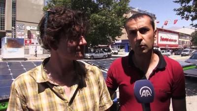 Güneş enerjili bisikletle Fransa'dan Erzincan'a geldiler - ERZİNCAN