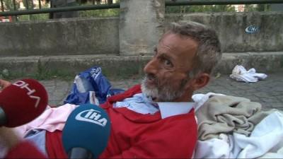 Şişli Belediyesi zabıtası yürüyemeyen yaşlı adamı sokağa bıraktı