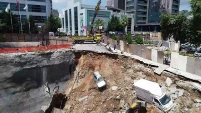Ümraniye'de inşaatın perde duvarı çöktü (4) - İSTANBUL