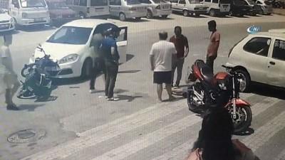 Manavgat'ta motosikletle otomobil böyle çarpıştı: 1 yaralı