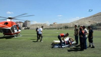 Beyin kanaması geçiren hastanın imdadına hava ambulansı yetişti