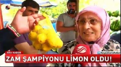Temmuz ayının zam şampiyonu limon oldu