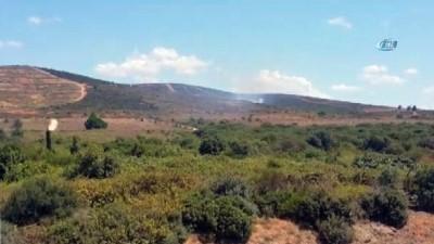 Tuzla Piyade Okulu içerisinde bulunan otluk alanda yangın çıktı