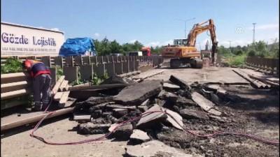 Cevizdere Köprüsü'ndeki çalışmalar devam ediyor - ORDU