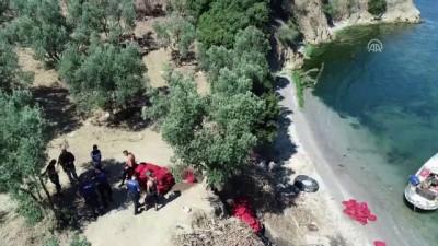 Gemlik Körfezi'nde 'drone' destekli kaçak midye operasyonu - BURSA