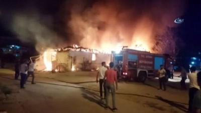 Nazilli'deki yangında bir ev kül oldu