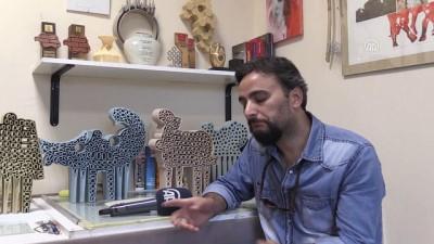 Endüstriyel çamuru sanata dönüştürüyor - AFYONKARAHİSAR