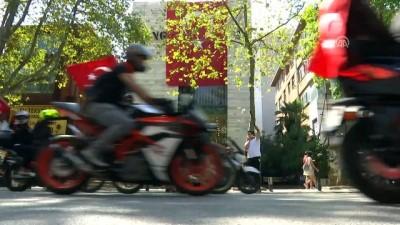 Bin motosikletliden 'Zafer Sürüşü' - İSTANBUL