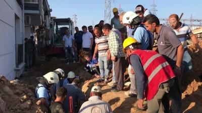 Çorlu'da inşaatta göçük - TEKİRDAĞ