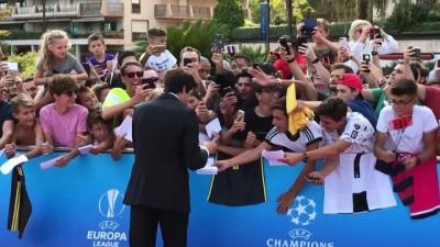 UEFA Şampiyonlar Ligi kura çekimi - Grimaldi Forum önünden görüntüler - MONACO
